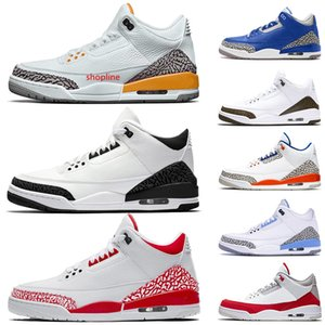 RETRO Hot Selling New Jumpman III Mens Basketball Shoes Laser Orange Fire Red White Black Knicks Rivals Tinker OFF Trainers Sneakers 40-47