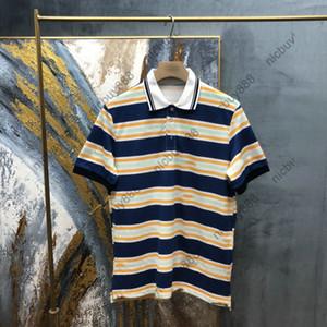 2020 Marque Europe Hommes T-shirt Haute Qualité Coton Polo Lettre Imprimé Collier Touche T-shirt T-shirt T-shirt T-shirt T-shirt Tee