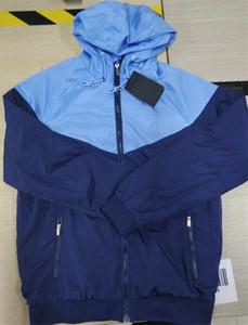 Mens Jacket Hooded Street Sport Football Pattern New Coat Sweatshirt Hooded Sports Windbreaker Jackets Men Clothes S-2XL Wholesale