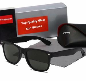 Дизайнерские солнцезащитные очки Ray Brand Farer Model 2140 Acetate Frame Real UV400 Стеклянные линзы Солнцезащитные очки Оригинальные пакеты кожаных пакетов!