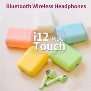 Bluetooth Headphones i12 TWS Earbuds Mini Wireless Earphones Headset with Mic Stereo V5.0 for phone with retail Package
