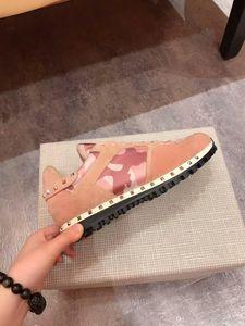 luxurys NEW Fashion Rock Runner Камуфляж кожаные кроссовки обувь мужчин, женщин Рок Коты Открытый Повседневный CAMUSTARS Тренеры спортивной обуви S BCQQ