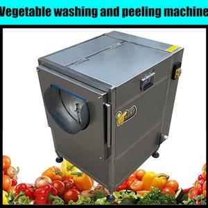 200kg / hpotato Karotte Gemüse Fruchtbürste Roller Spray Waschmaschine Jakobsmuschel Auster Waschmaschine Meeresfrüchte Reinigungsmaschine