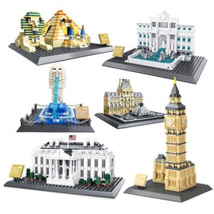 City Street View 3d World Famous Architecture Building Blocks Classic City Bricks Cn Tower White House Model Sets Kid Toys Gifts sqcvLP