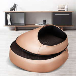 Electric Foot Massager Heating Massage Roller Machine PU Leather Massage Cushion For Back Foot Kneading Relaxation TensionRabin