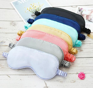 أقنعة الحرير النوم الراحة تظليل العين قناع الظل مبطن غطاء Eyepatch السفر الاسترخاء المعونة الغمائم Eyemask Epacket