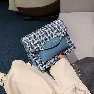 Niche Bag For Women 2020 New Fashion Woolen Crossbody Single Shoulder Bag Clutch Hit Color Lipstick Packet A812