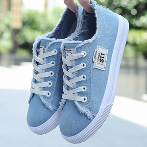 Women Canvas shoes Sneakers 2020 Hot Solid Lace-up Superstar for Girls Non-slip Size 35-42 Zapatillas mujer Q1104