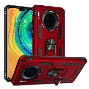 Armor stand Phone Cases For Huawei Mate 40 Pro Plus Case Magnetic Mate 20 30 40 Lite Ring Holder Huawei Mate 20 X 30 Pro Back Cover