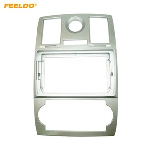 FEELDO Car Stereo 9 Inch Big Screen Fascia Frame Adapter For Chrysler 300C 2Din Dash Audio Fitting Panel Frame Kit #6687