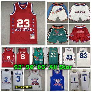 Vintage Mens All-Star Mitchell Ness Jersey 1993 1996 2003 All-Star Retro Classic Basketball Jersey Shorts 1 McGrady 23 Michael 3 Iiverson 8 м