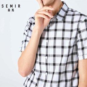 Semir Hommes Chemise à manches courtes Hommes Été Nouveau Japonais Plaid Student Shirt Casual Shirt Trend Y200409