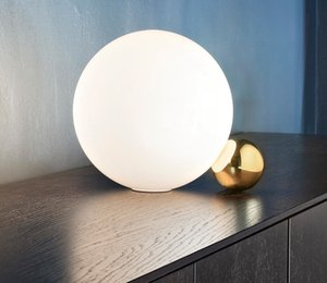 Postmodern Creative verre Salon Art Table lumineuse Étude chevet Chambre Designer Table Lamp Llfa