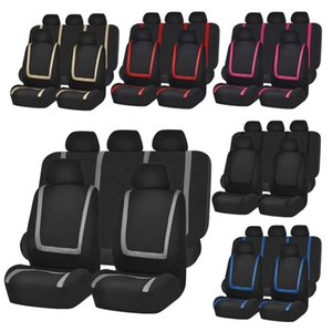 Universal Automobile Seat Covers fit Full Set and 2 Front Seats Protector Interior Accessories Classic Car Seat Cover