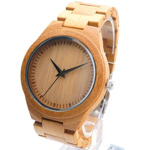 Movement Miyota Bamboo Japanese Watches 2035 Wood Band Quartz Watch Wristwatches Unisex with Gift Box for Christmas Accept Customization Oem