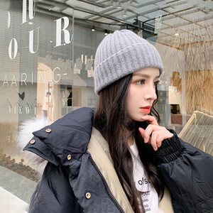 autumn and winter Korean warm knitted fashion brand student versatile lovely woolen Baotou pointed Hat girl
