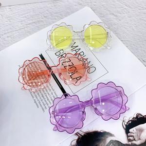 New Children Flower Full Frame Lovely Sunglasses Boys Girls Flowers Cartoon Glasses PC Frame Baby Shades Kids Outdoor Goggles C6742