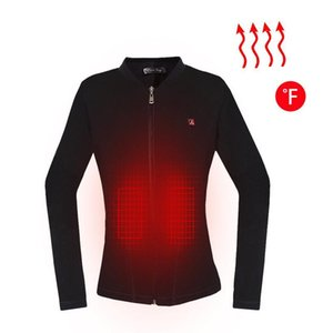 Female Women Winter Jacket Heated Jacket Waterproof Outdoor Zipper Electric Thermal Clothing Coat for Sports Hiking Shirt
