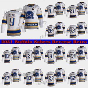 Buffalo Sabers Jersey 2021 Reverse Retro 4 Taylor Hall 9 Jack Eichel 26 Rasmus Dahlin 53 Jeff Skinner 55 Rasmus Ristolainen Hockey Jerseys