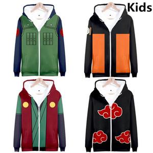 3 to 14 years kids hoodie Anime 3d printed hoodies sweatshirt boys girls Uchiha Itachi Kakashi Jacket children clothes