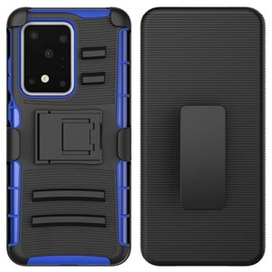 Heavy Duty Rugged Armor Defender Belt Clip Case for Samsung Galaxy A01 S20 Ultra Note 10 20 Plus FE Shockproof Cover w  Kickstand
