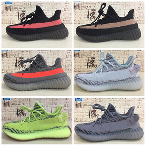 2018 newest Sply 35 V2 Blue Tint Yellow Semi Frozen Cream White Zebra Bred Black Red Beluga 2.0 Kanye West Shoes Sneakers WT06