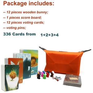 Dixit board لعبة 336 بطاقات حقيبة القماش الجميلة مع الأرانب الخشبية للأطفال اللعب للمنزل حزب بطاقة متعة لعبة Y200421