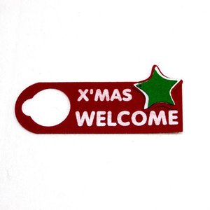 House Door Hanging Ornament 2020 Christmas Pendant Felt Cloth Cartoon Tree Xmas Welcome D