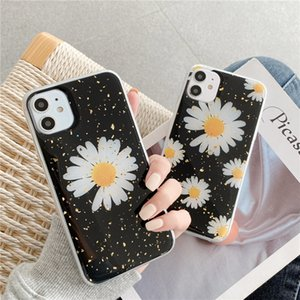 Beautiful Floral Gold Foil Case For iphone 12 MINI 11 Pro Max X XS MAX XR SE2 8 7 Plus 6 6S Cases Soft TPU Backed Cover