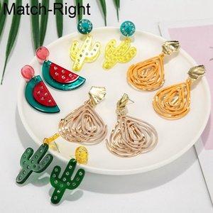 Match-Right Déclaration Boucles d'oreilles mignonnes pour les femmes Brincos Fruit acrylique Dangle coréenne Boucles d'oreilles Pendentif Femme Bijoux SP857