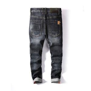 AirGracias New Style Hombres Marca Ropa de alta calidad Famosa Designer Denim Biker Jeans Homme 201111