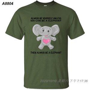 Disegni elefante Gifts Quote T-shirt uomo 2020 Natural Color Mens T Shirt Solid Carino grande formato S ~ 5XL rotonda Collare 39.181.410