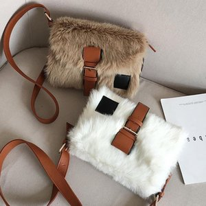 Plush Autumn Winter Wide Crossbody Bag Women Large Bag Korean Style of Large Capacity One Shoulder Fur