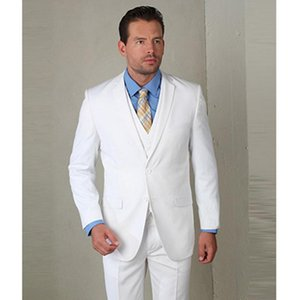 2020 terno slim fit white mens suits wedding tuxedo high quality custom men suit coat wool bleed tuxedos white three piece suits