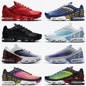 nike air max plus tn 3 nike tuned tn plus 3 mujeres para hombre de los zapatos corrientes de la manera superior Rojo Azul Negro deportivos zapatillas de deporte