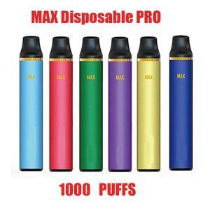 F O-G MAX jetable Pod appareil Kit batterie 600mAh 3.5ml cartouche 800-1000 Puffs Vape prérempli Pen VS Bang Flow Plus Bar XXL Kits Max