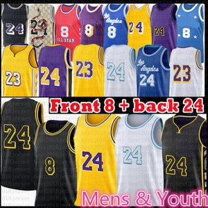Mens Youth Ride Los 23 Angeles 24 8 Баскетбол Джерси Энтони 3 Дэвис Кайл 0 Кузьма 32 32 34 Alex 4 Black Caruso Mamba Jerseys Black 2021 New