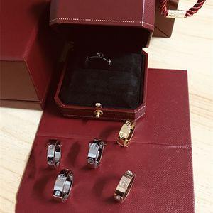 Love Diamond Ring Love's Ring Fashion Charm Titanium Steel Ms. Eternal screw Rings Band serewer Rings Top original box