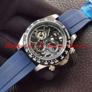 New Mens Watch Montre de Luxe Sapphire Superfície Relojes Deportivos Para Hombres Alta Qualidade Relógio de Pulso VK Quartz Borracha