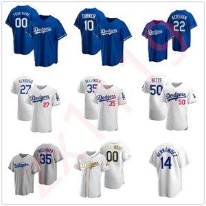 2020 Dodger Hombres Mujeres Niños Jóvenes Béisbol Cody Bellinger Justin Turner Clayton Kershaw Walker Buehler Mookie Betts Enrique Hernández Jerseys