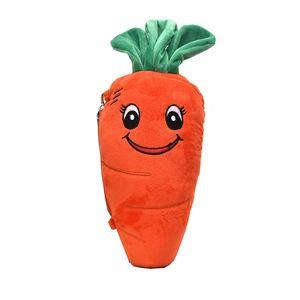 Kids Girls Cartoon Handbags New Fashion Cute Cartoon Carrot Children Messenger Bags Parent-child Mobile Phone Plush Purse C6568