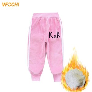 Vfochi lápiz otoño terciopelo estiramiento cintura niños cálido niños pantalones bebé niñas niño pantalones deportes lj201019