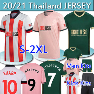 20 21 Sheffield Soccer Jerseys Berge Mousset 2020 2021 McBurnie Lundstram Fleck Norwood Sharwood Hommes Sharweavie Kits de football Chemise de foot thaï