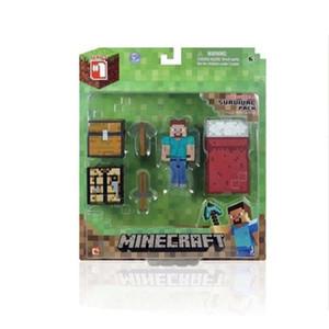 Enredadera Mina Mía My World Puzzle Assembly Bricks Man Minecraft Modelo Ghast Ghast Blocks Minifig Juguetes para niños Regalos de Navidad