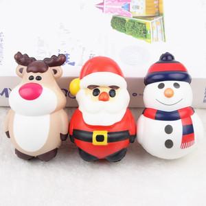 لعب الأطفال دمية بابا نويل اسفنجي PU محاكاة عيد الميلاد موضوع تنفيس الضغط الكرة الحلي هدايا سترس كرات انتعاش بطيء F2 4mc