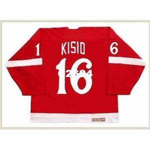 Hombres # 16 Kelly Kisio Detroit Red Wings 1982 CCM Vintage Retro Hockey Jersey o Personalizado Cualquier nombre o Number Retro Jersey