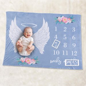 Baby Blanket Classic Colors and Simple Durable Design Newborns Monthly Photo Props Background Cloth Flannel Wrap