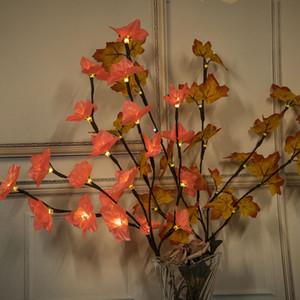 Ins Battery Box Scatola a colori Lampade a LED Fiore artificiale Decorativo luci colorate colorate simulato ramo decorare la luce creativa 12 5wc l1