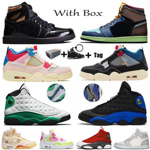 Jumpman 1s Yüksek OG Bio Hack Siyah Metalik Basketbol Ayakkabı Yelken Birliği Guava Buz noir 6s Travis Scotts Hare Kadın Erkek Sneakers 4s