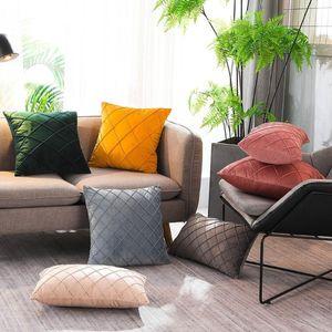 Velvet pillowcase Cushion cover Crystal Velvet Pillowcase Covers Soft Decorative Cushion Case for Sofa Bedroom Pillow Case